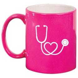Gifts for Women Under $25:Heart Stethoscope Mug