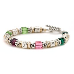Gifts Under $100:Personalized Birth Month & Initials Bracelet