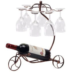 Vintage Tricycle Wine Bottle & Glass Holder