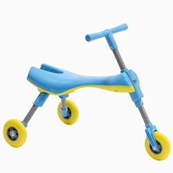 Unique Christmas Gifts for Kids:Foldable Indoor/Outdoor Glide Tricycle