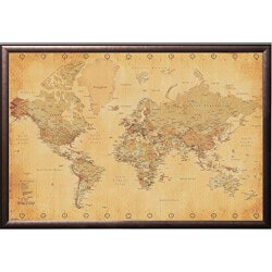 World Map For Tracking Trips