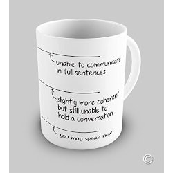 Funny Christmas Gifts for Women:You May Speak Now Coffee Mug