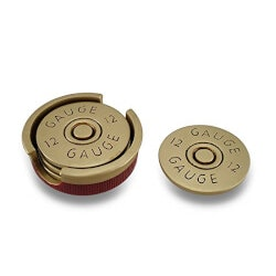 Shotgun Shell Coaster Set