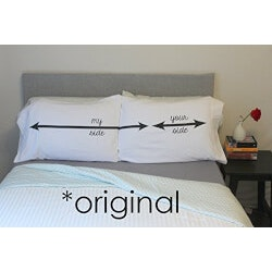 Funny Anniversary Gifts:My Side Your Side Pillow Cases