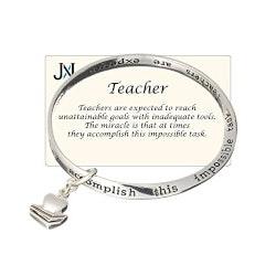Jewelry Gifts:Teachers Inspirational Bracelet In Gift Box