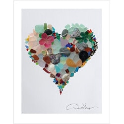 5th Anniversary Gifts Under $25:Love - Sea Glass Poster