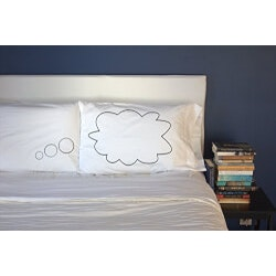 Romantic Valentines Day Gifts (Under $10):Thought Bubble Couples Pillowcases