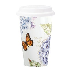 Christmas Gifts for Women Under $10:Lenox Butterfly Travel Mug