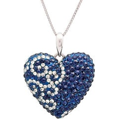 Gifts for Wife:Blue And White Heart Pendant