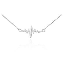 Gifts for Women Under $25:Lifeline Heartbeat Pulse Necklace