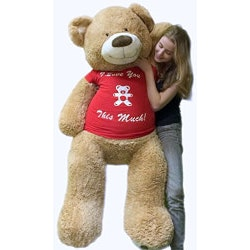 Unique Valentines Day Gifts for Teens:5 Foot Giant Teddy Bear
