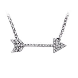 Romantic Gifts for Girlfriend:Arrow Diamond Pendant Necklace