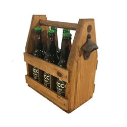 Birthday Gifts for Men Under $50:Handcrafted Wooden Beer Carrier