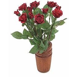 Dozen Lifelike Paper Roses