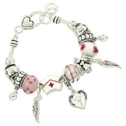 Gifts for Women Under $25:Nurse Charm Bracelet
