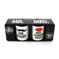 Funny Birthday Gifts for Wife:Mr. Right And Mrs. Always Right
