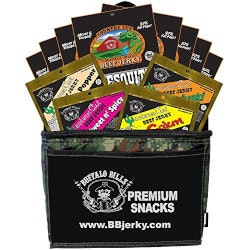Birthday Gifts for Brother Under $50:Beef Jerky Camo 6-Pack Gift Cooler