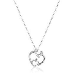 Jewelry Birthday Gifts for Grandmother (Under $50):Family Heart Pendant Necklace