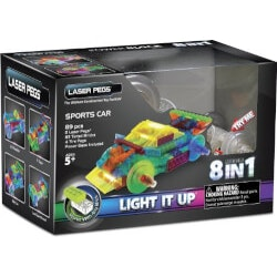 Birthday Gifts for 7 Year Old:8-In-1 Sports Car Building Set