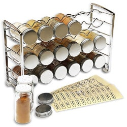 Spice Rack Stand With 18 Bottles