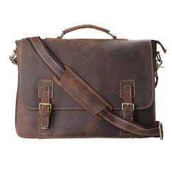 Leather Shoulder Laptop Bag