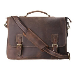 Unusual Graduation Gifts:Leather Shoulder Laptop Bag