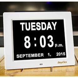 Unusual Birthday Gifts for Grandmother:Minimalist Clock & Calendar