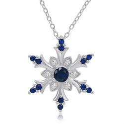 Sapphire Snowflake Pendant