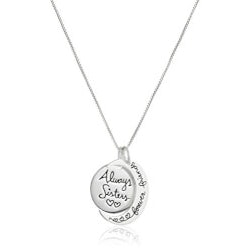 Christmas Gifts for Women Under $10:Always Sisters Forever Friends Necklace