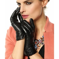 5th Anniversary Gifts Under $25:Bestselling Womens Cashmere Leather Gloves