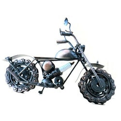 Birthday Gifts for Boyfriend Under $50:Metal Motorcycle Sculpture