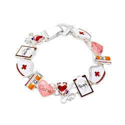 Jewelry Gifts:I Love Being A Nurse Bracelet