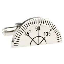 Unique Gifts (Under $25):Ruler Protractor Cufflinks In Gift Box