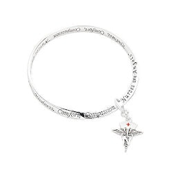 Nurse Charm Word Engraved Bracelet