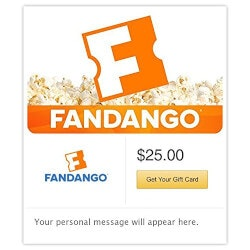 Gifts Under $25:Fandango Gift Cards