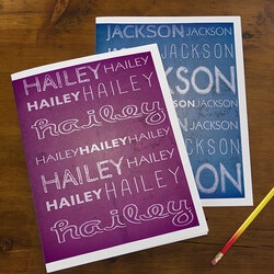 Birthday Gifts for 9 Year Old:Personalized School Folders For Kids - My Name