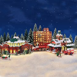 Budweiser Illuminated Holiday Village..