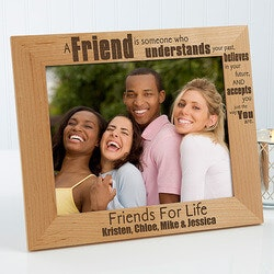Birthday Gifts for Friends:Personalized Friends Forever Picture Frames..