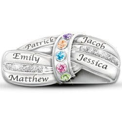 Mothers Embrace Birthstone Ring
