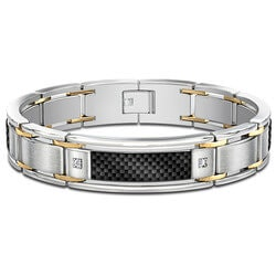 Birthday Gifts for Men:Stainless Steel Mens Bracelet