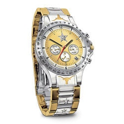 Gifts for Grandfather:Texas Lone Star Diamond Mens Chronograph..