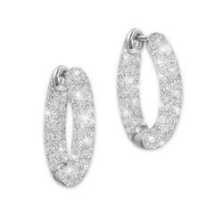 Engraved Diamond Earrings