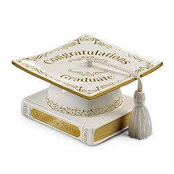 Jewelry Gifts:Personalized Graduation Cap-Shaped Porcelain..