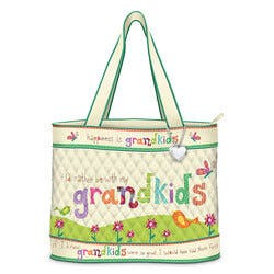 Grandkids Rule Artistic Tote Bag With FREE..