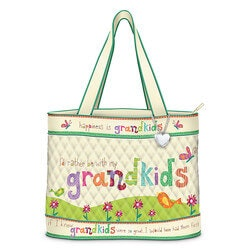 Birthday Gifts for Grandmother:Grandkids Rule Artistic Tote Bag With FREE..