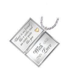 Dear Sister Diamond Locket Necklace For..