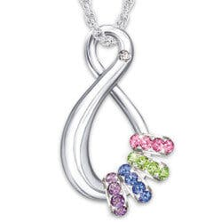 Mothers Infinite Joy Birthstone Pendant