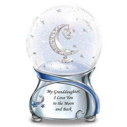 Gifts for 17 Year Old Daughter:Granddaughter, I Love You To The Moon..