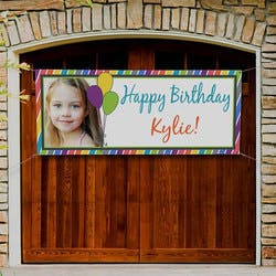 Personalized Birthday Party Photo Banners