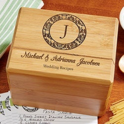 Wedding Gifts:Personalized Wedding Recipe Box - Family..
